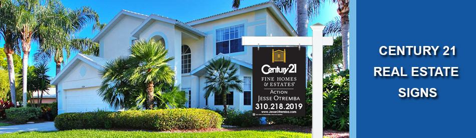 Century 21 Real Estate Signs Open House For Sale Flags