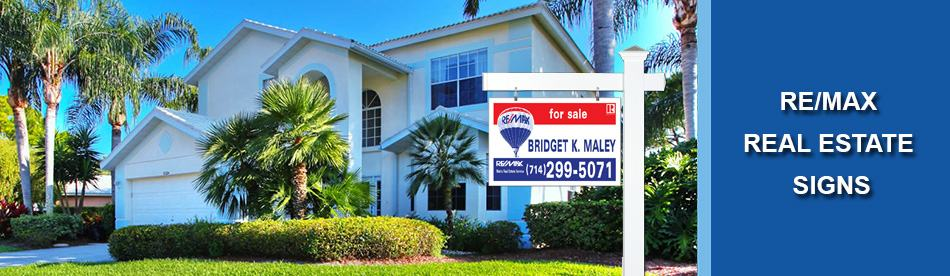Re Max Real Estate Signs