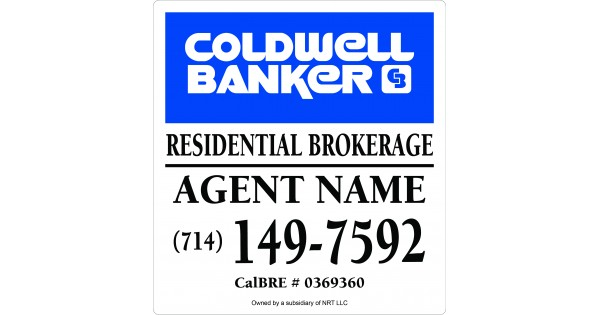 Coldwell Banker For Sale Sign 14x15