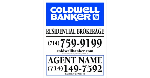 coldwell banker for sale sign w agent info office info 2