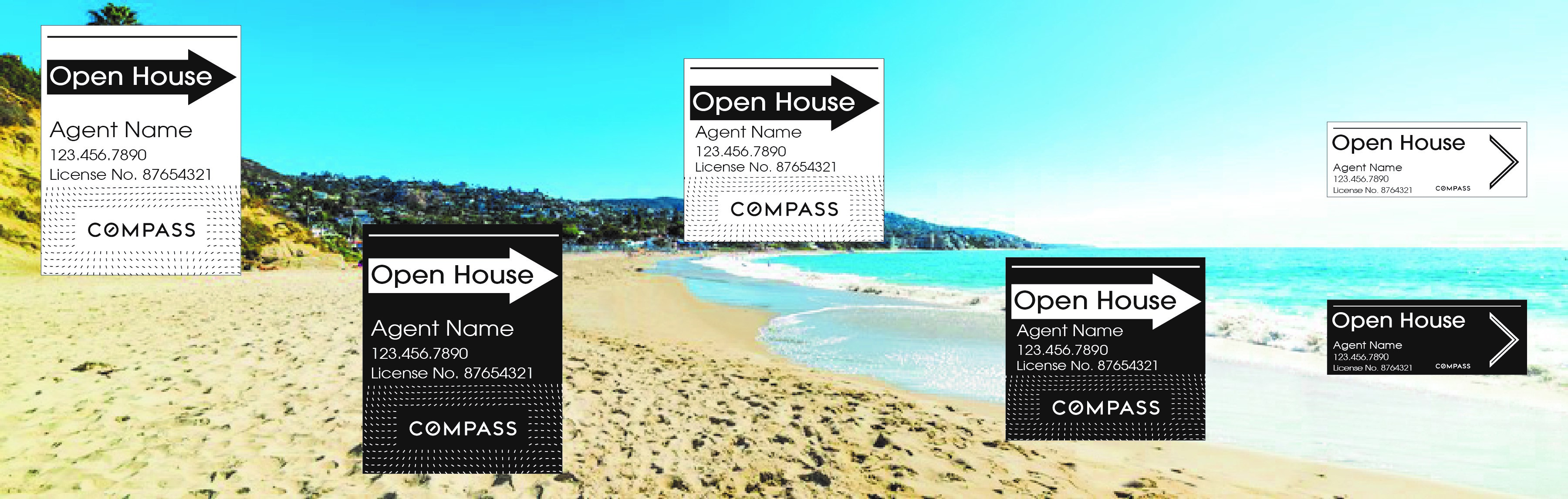 Compass Realty Signs Real Estate Signs Open House