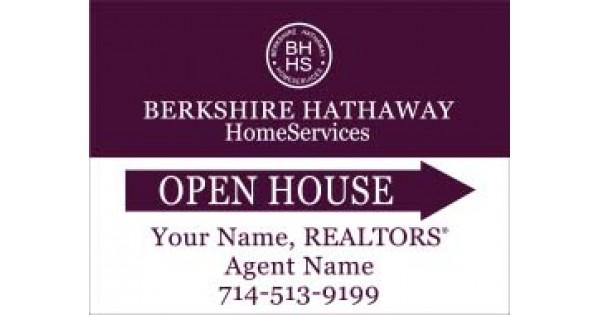 Berkshire Hathaway Open House Sign 18 Quot X24 Quot