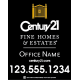 Century 21 Fine Home & Estates For Sale Sign, 30x24