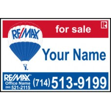 Re max Real Estate Signs ReMax For Sale Signs Open House Signs