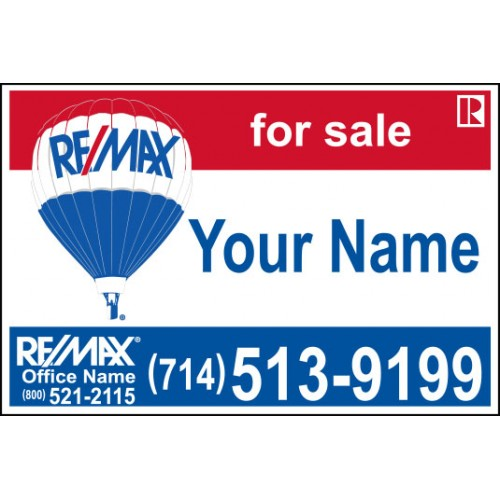 Remax For Sale Sign 24x36