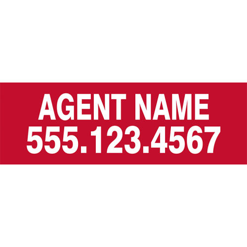 Keller williams agent name rider 6x18
