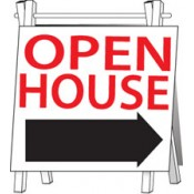 Stock Open House Signs