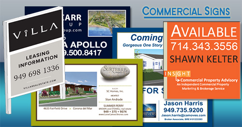 customized real estate signs